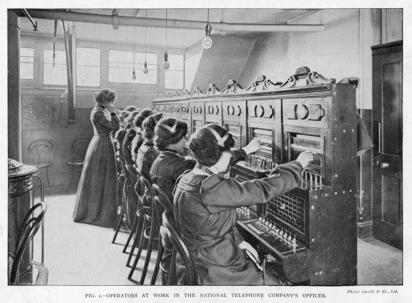 The switchboard of the National Telephone Company, United Kingdom