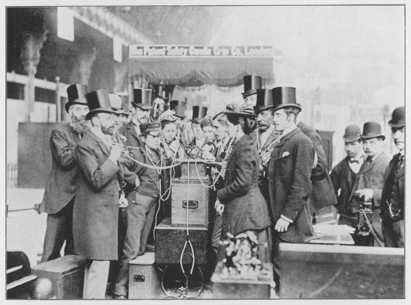 The PHONOGRAPH is demonstrated at a London exhibition, attracting the interest of many, including a Post Office messenger boy