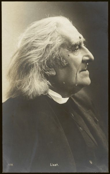 Hungarian composer and musician, photographed in old age