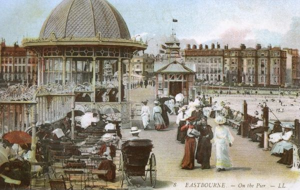 The Pier - Eastbourne, East Sussex, England. Date: circa 1900