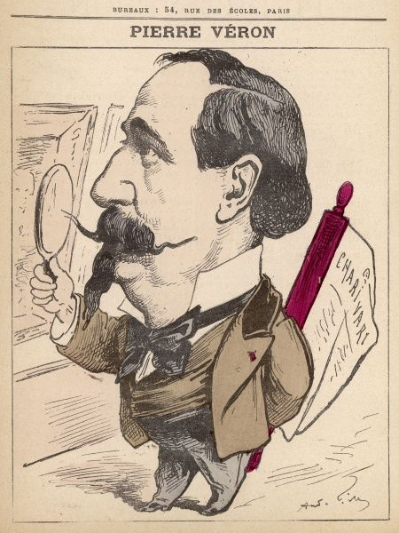 Pierre Vron (1833-1900) French publicist. writer, journalist and art critic, hence the magnifying glass
