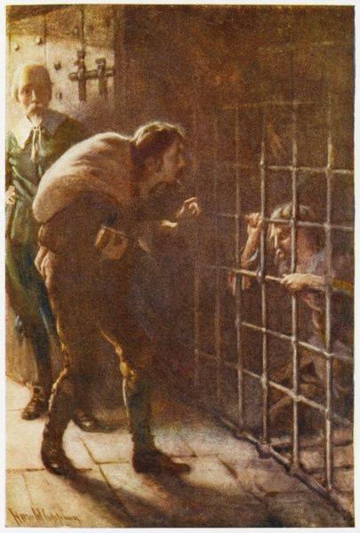 The Interpreter shows Christian the Man in the Iron Cage, brought there by pursuing the lusts, pleasures and profits of this world