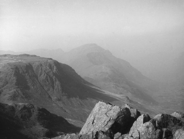 The Pillar Fell, photographed from Green Gable, Cumbria, the Lake District, England. Date: 1930s