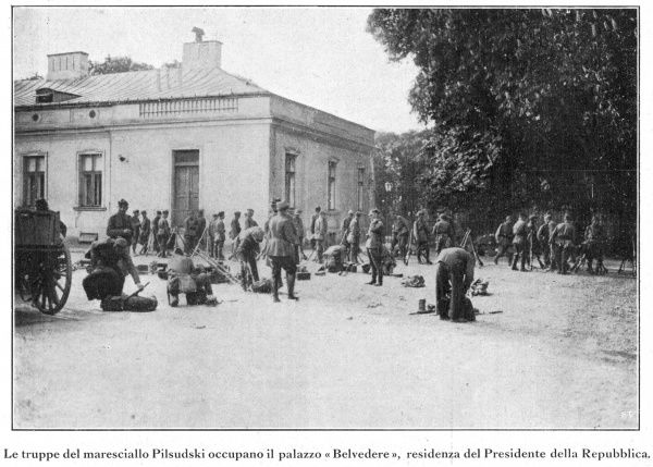 Marshal Piludski, in a coup d'etat, seizes power and makes himself virtual dictator of Poland : his supporters occupy the Belvedere, Warsaw