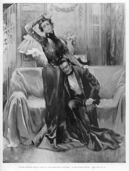 The second Mrs Tanqueray, Eleonora Duse as Paula in act IV