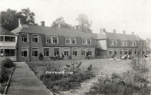 Ward blocks at the Pinewood Sanatorium at Bagshot Sands, near Wokingham, Berkshire, which was originally opened in 1898 as the London Open Air Sanatorium by the National Association for the Prevention of Tuberculosis