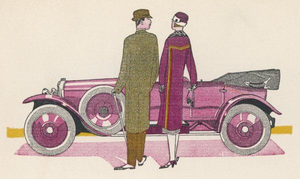 'Cheri, how divinely clever of you to find a Renault that goes so tastefully with my coat !&#39