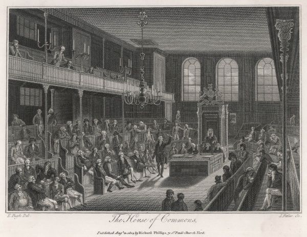 William Pitt (the Younger) addresses the House in 1804, the year he began his second spell as Prime Minister
