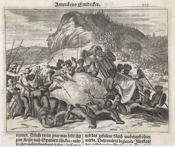 Pizarro and his men treacherously seize Atahualpa