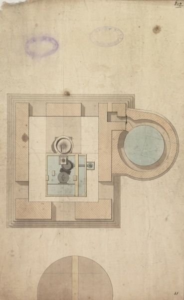 Plan of the engine and boiler, Borough Water Works Date: 1796