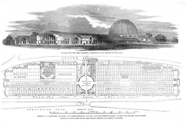 Conceived by Prince Albert, the Great Exhibition was intended as a celebration of British imperial and industrial might. Held in Hyde Park, London in the specially constructed Crystal Palace there were over 13,000 exhibits viewed by over 6,200