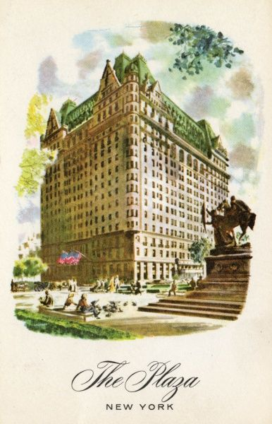 Plaza Hotel on Fifth Avenue, New York City, America