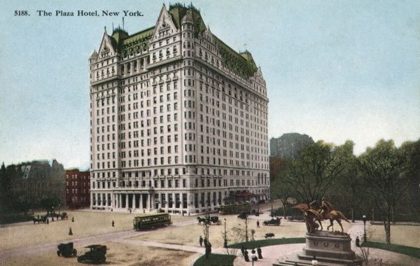 Plaza Hotel on 5th Avenue and 58th Street at Central Park, New York City, America