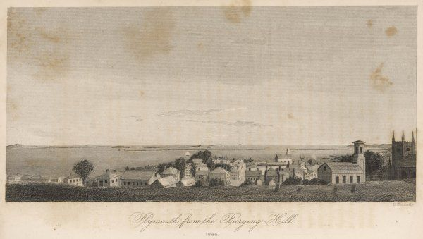 View of Plymouth, Massachusetts, from the Burying Hill
