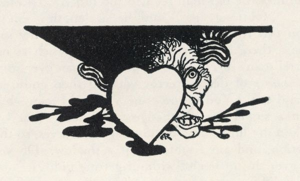 THE TELL-TALE HEART (Page footer: heart & head). Date: First published: 1842