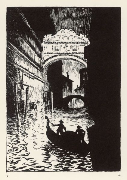 THE ASSIGNATION The commotion by the Bridge of Sighs. Date: First published: 1834