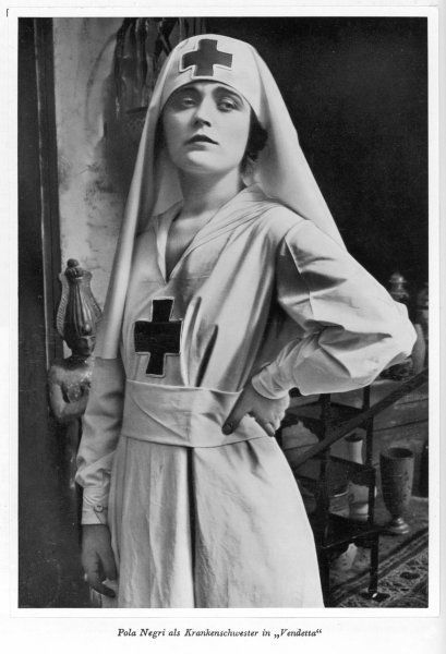 POLA NEGRI (Appolonia Chalupek) Polish actress who went to Hollywood in the 1920s - seen here as a nurse in 'Vendetta&#39