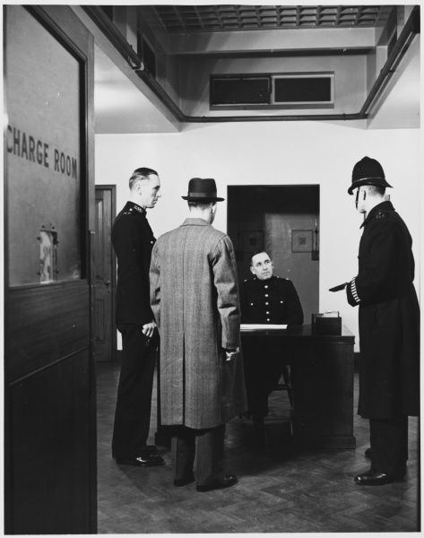 Police charge room in a police station Metropolitan Police