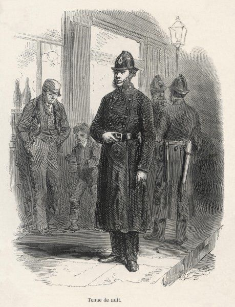 A London policeman in his night uniform