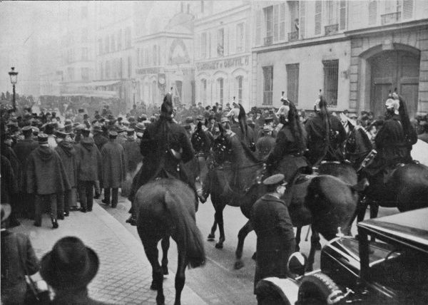 Cavalry are called in when anti-government rioting in Paris leads to an attack on the palais Bourbon