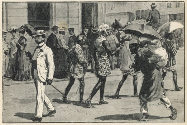 In JOHANNESBURG, South Africa, the natives, however elegantly dressed and well-behaved, must walk in the roadway, leaving the sidewalks for the white folk (picture 2 of 2)