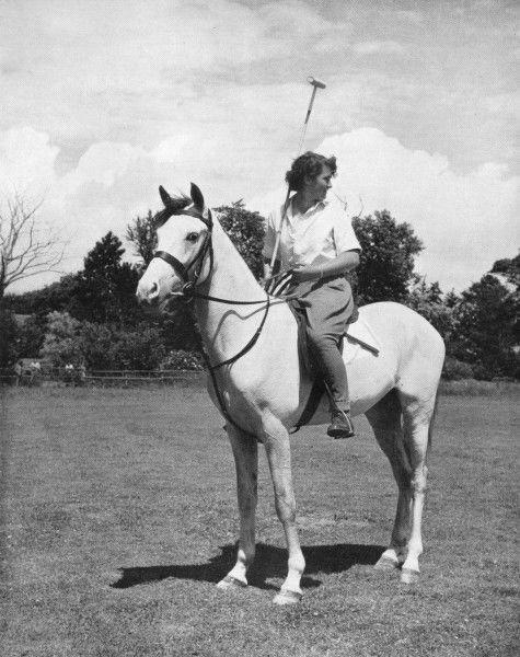 An Arab polo pony, named Ali Baba, with rider Audrey Haines