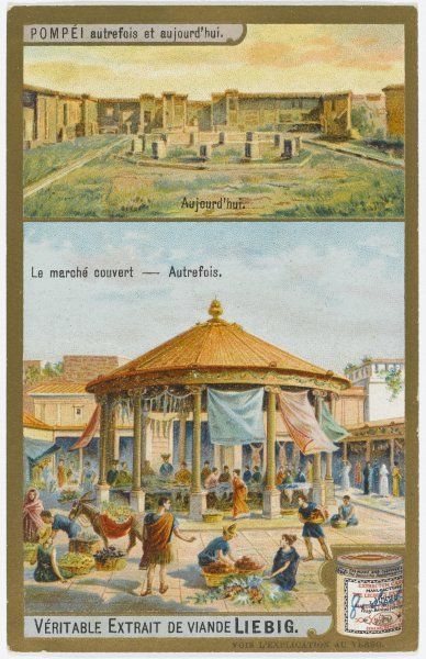 Pompeii 'Yesterday and Today' The covered market