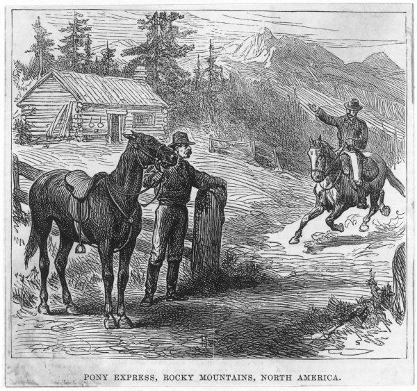 A rider makes a delivery in the Rockies