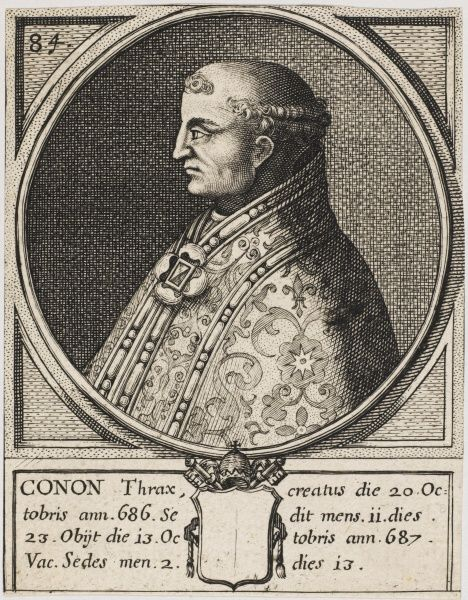 Pope Conon, died 687 and buried in the Patriarchal Basilica of St. Peter