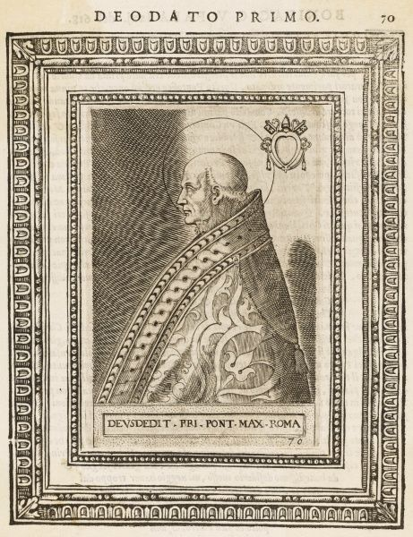 POPE DEUSDEDIT I also known as Adeodatus pope and saint