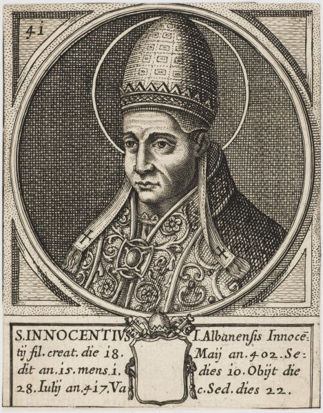 Pope Innocens I. Pope and Saint
