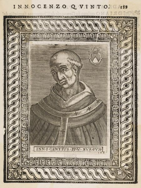 POPE INNOCENS V (Pierre de Tarentaise) known as 'The Blessed&#39
