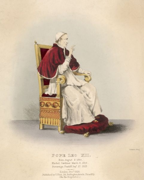 POPE LEO XII (Annibale della Genga) reactionary pope but with strong missionary zeal