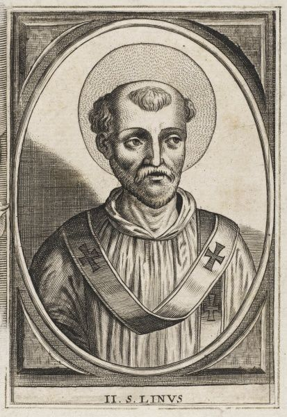 Pope Linus, the second pope, following Peter (Saint)