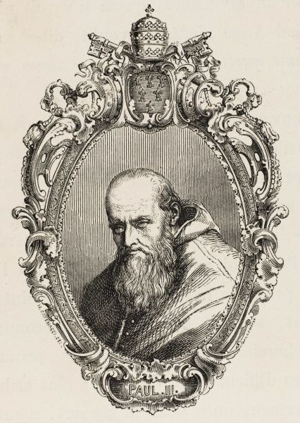 POPE PAULUS III (Alessandro Farnese) reformer, patron of the arts, convener of Council of Trent