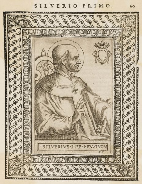 POPE SILVERIUS saint and pope, died in exile