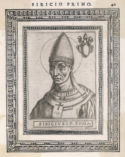 POPE SIRICIUS pope and saint
