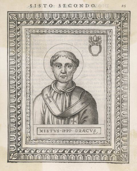 POPE XYSTUS (SIXTUS) II pope and saint