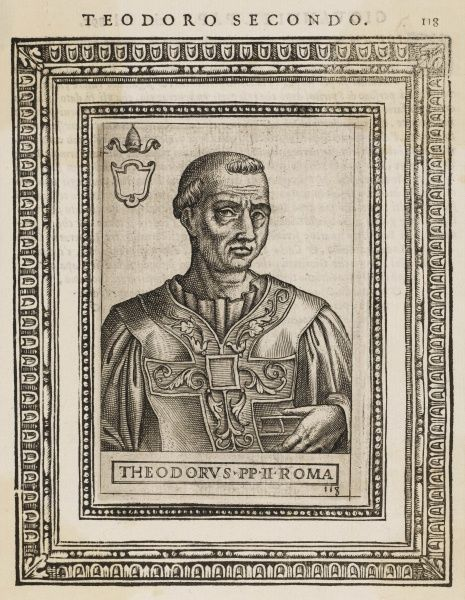 POPE THEODORUS II probably died violently