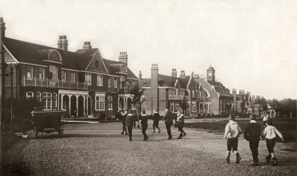 View of the boys' side of the Poplar Schools which were established in 1906 between Shenfield and Hutton, near Brentwood, Essex, to house pauper children away from the workhouse