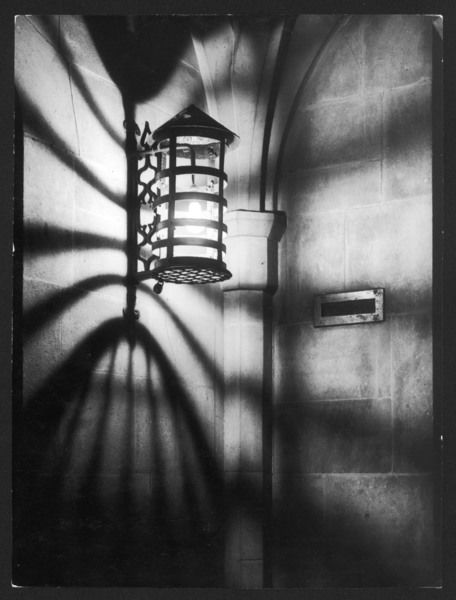 A lamplight pattern from a porch light at St. Edward's House, Westminster, London