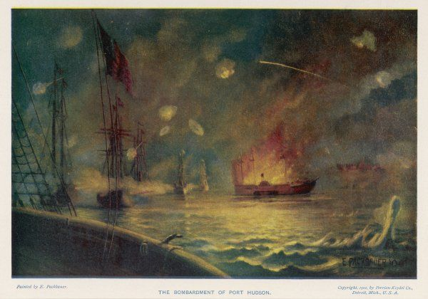 The bombardment of Port Hudson by the Federals