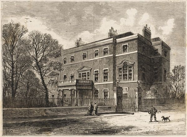 Mrs Montagu's house in Portman Square, a gathering-place for the 'blue stockings' of the day