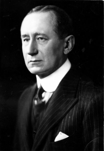 This is a portrait of Italian inventor, Marconi, born 1874, who revolutionised the world of communications with his wireless invention