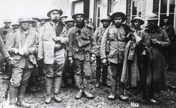 Portuguese soldiers who have been captured on the Western Front during the First World War. Date: 1916-1918