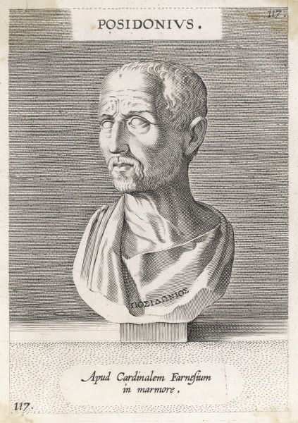 POSIDONIUS Greek stoic philosopher. Reputed to be the most learned man of his time