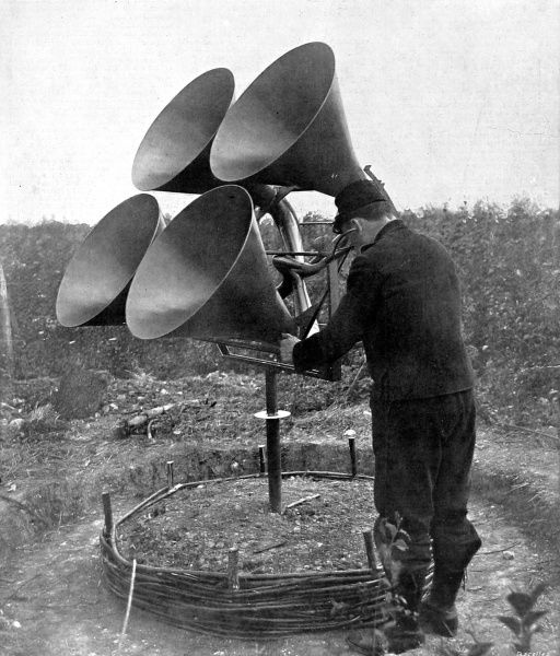 A French listening-post for early detection of enemy aircraft