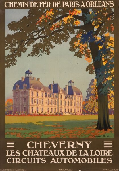 Poster for French railways, advertising Cheverny, one of the chateaux of the Loire