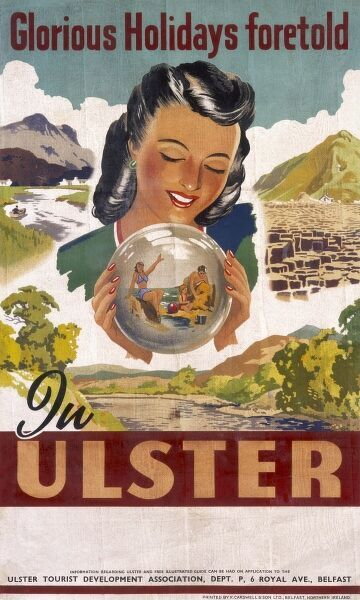 Poster for Ulster, Northern Ireland -- glorious holidays foretold