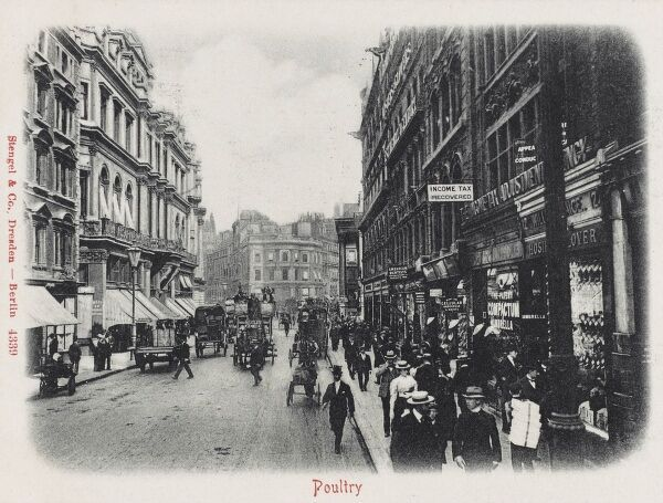 Poultry, The City, London - looking toward the Mansion House
